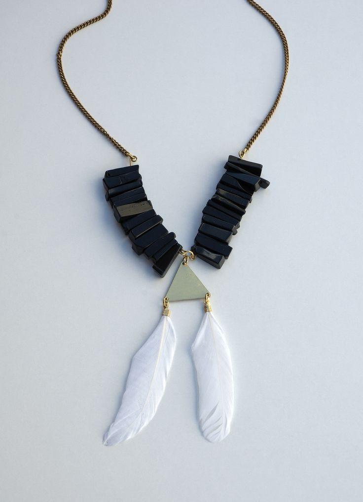 Geometrical Statement Black Onyx Necklace https://www.etsy.com/listing/194420535/geometrical-statement-black-onyx?ref=listing-10