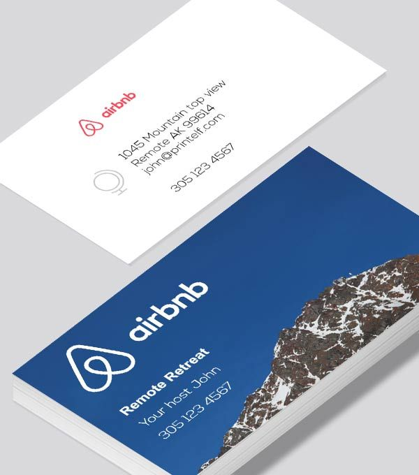 Airbnb Business Card Modern Contemporary With Images Modern