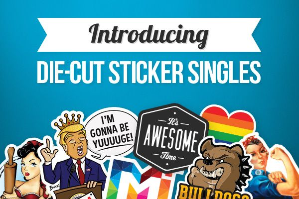 You asked - we listened. StickerYou is delighted to announce the launch of our newest sticker product: Die-Cut Sticker Singles. You can now order custom die-cut sticker singles online in any size, shape or quantity you like.