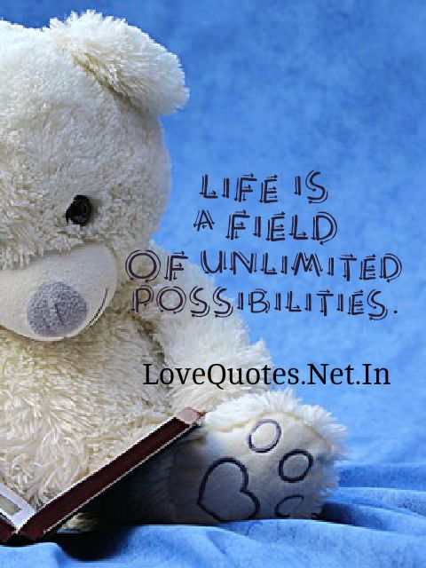 Life is a field of unlimited possibilities.