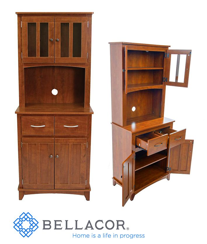 Oak Tall Microwave Cabinet