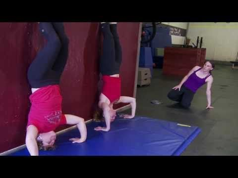 CrossFit - The Kipping Handstand Push-Up with Laurie Galassi. WODshop.com