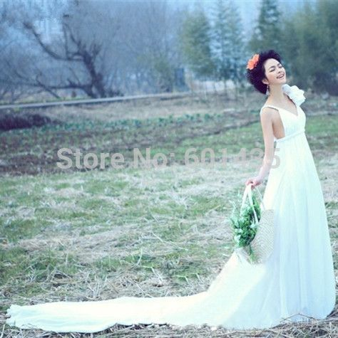 Find More Wedding Dresses Information About Free Shippinng DEBC0050 Royal Train Sexy V Neck Gown