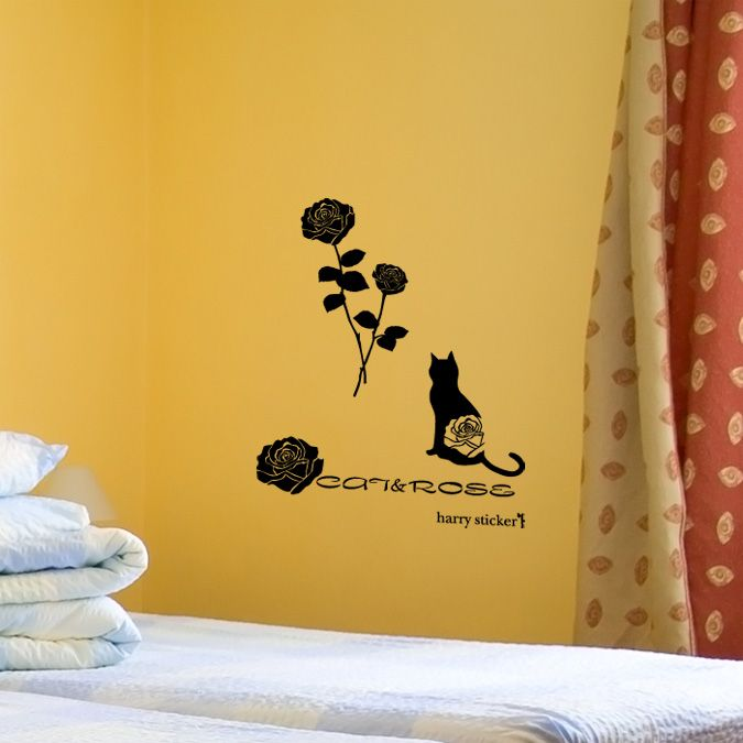 wallsticker rose Wallpaper interior Design