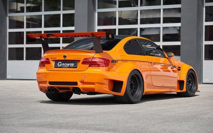 Lataa kuva G-power, tuning, 2017 autot, BMW M3 GT2 S Hurrikaani, sportcars, oranssi m3, BMW