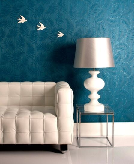 Adorn Collection by Graham & Brown Fern: Teal wallpaper