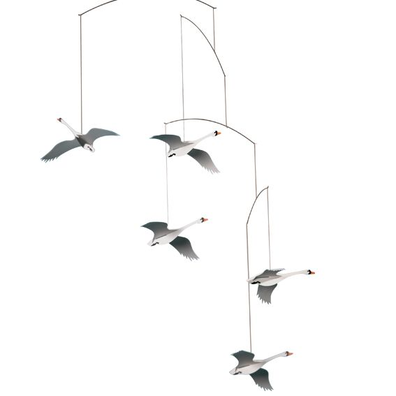 Scandinavian Swans by Flensted Mobiles