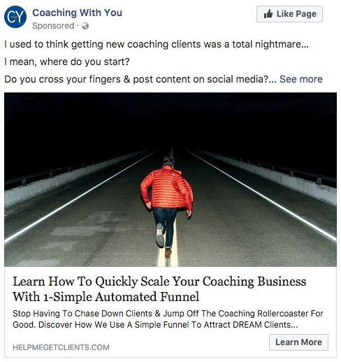 Facebook Ad for Learn how to quickly scale your coaching business with an automation funnel