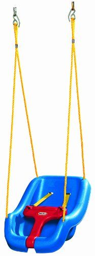 Little Tikes 2-in-1 Snug 'n Secure Swing Blue, Get your baby started on swinging fun early with the Little Tikes 2-in-1 Snug 'n Secure Swing. Decked out in bold, primary colors, this sturdy plastic swing is easy to hang and is perfect for growing ..., #Toys, #Play Sets & Playground Equipment