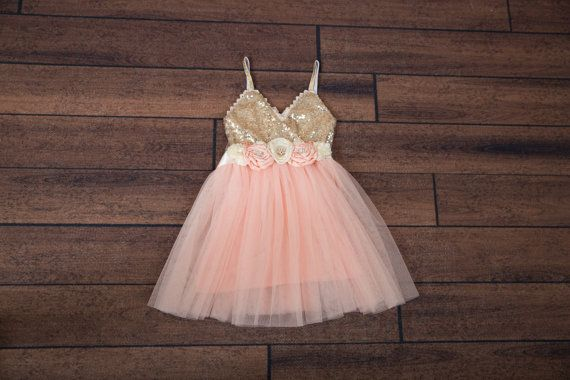 Light Pink Tulle Flower Girl Dress Pale Pink by NicolettesCouture