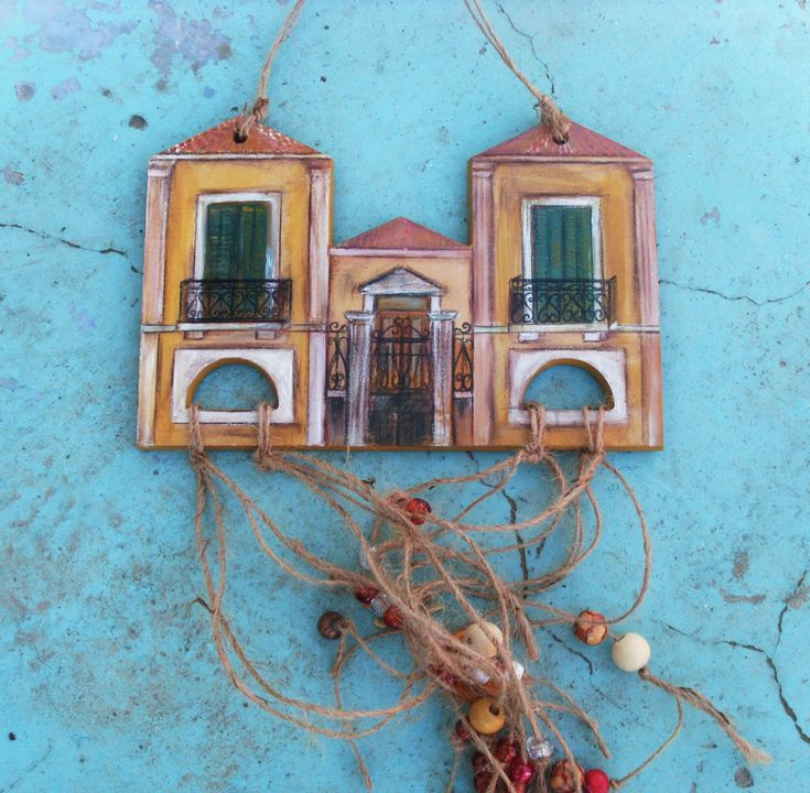 Neoclassical Inspired House  - Home Decor - Wall Hanging by allabouthandicraft on Etsy