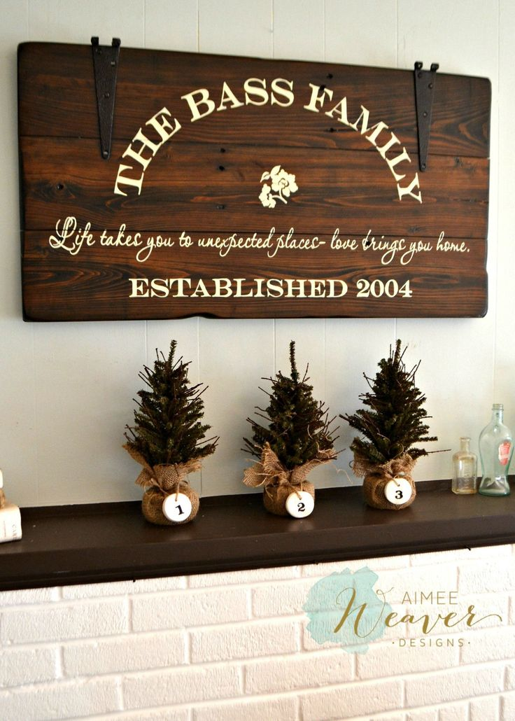 Family Name Sign with Hinges 20x36 {customizable} – Aimee Weaver Designs, LLC