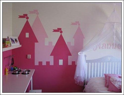 "I like the idea of a castle on the wall for ""Princess Trinity"""
