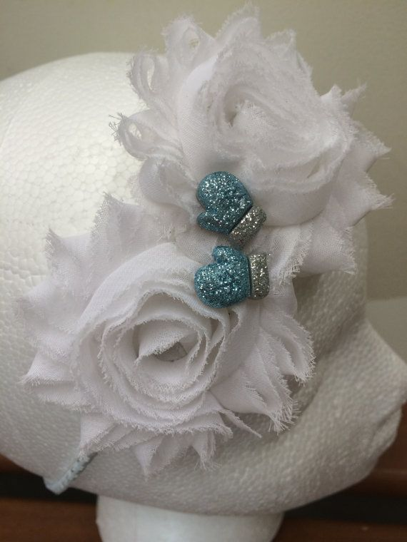 Frozen Inspired Shabby Flower headband with by LittleBugBling