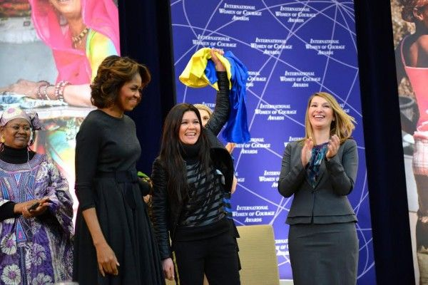 Ruslana is a woman of courage — just ask Mrs. Obama