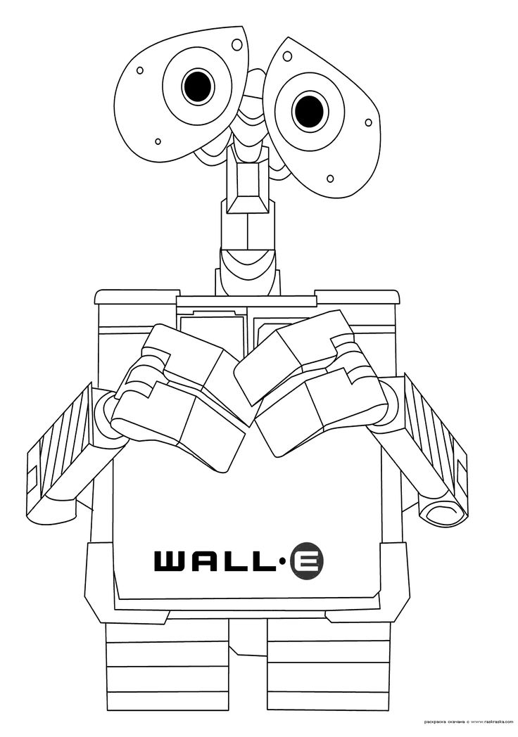 Disney Robots Coloring Pages : Wall e coloring pages robot party pinterest walls
