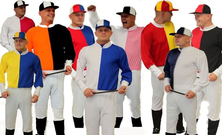 Jockey Tops Stag Party Fancy Dress Jumpers Pick n Mix Colours Your Choice - Dragons Den Fancy Dress Limited