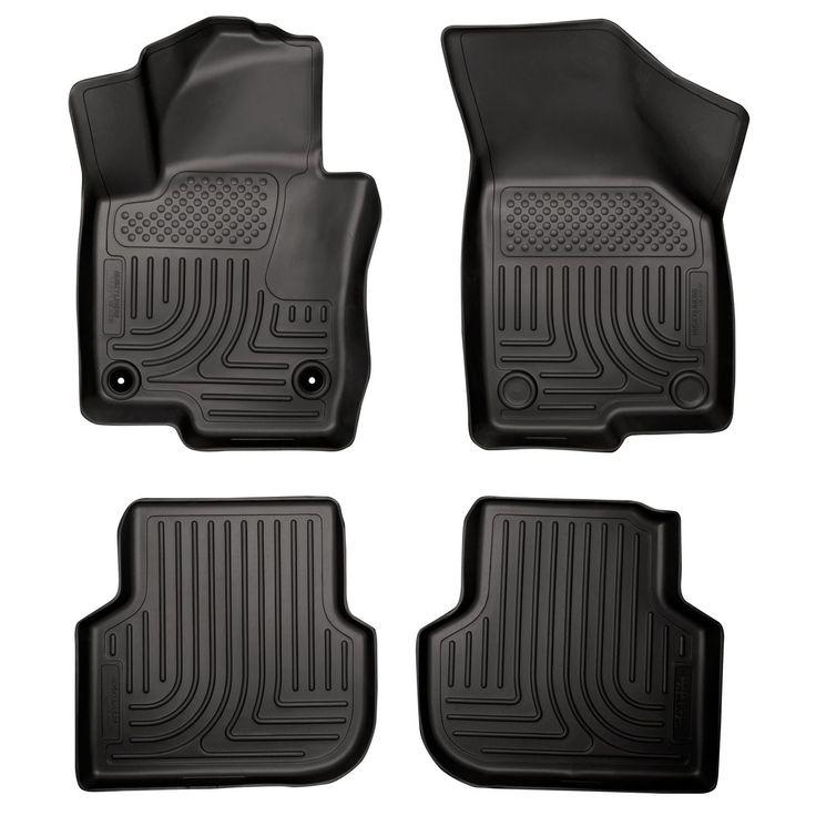 Husky Weatherbeater 2012-2014 Volkswagen Jetta GLI/TDI Premium Sedan Black Front & Rear Floor Mats/Liners