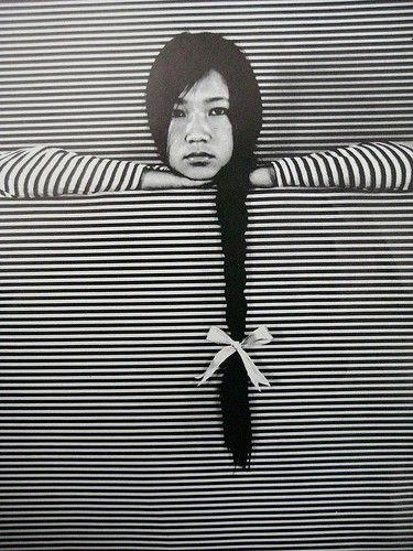 striped: Photography Patterns, Inspiration, Black White Photography, Black Hairs, Black And White, Braids, Bows, Long Hairs, Black Art