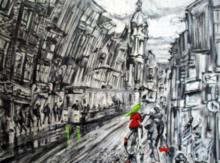 Nu in de #Catawiki veilingen: Elena Polyakova - Leidsestraat in Amsterdam