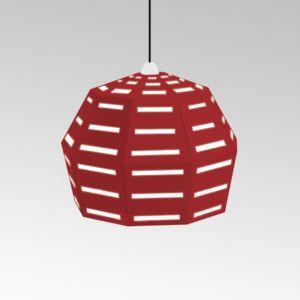 Kartonové svítidlo Uno Fantasia D Red, s černým kabelem