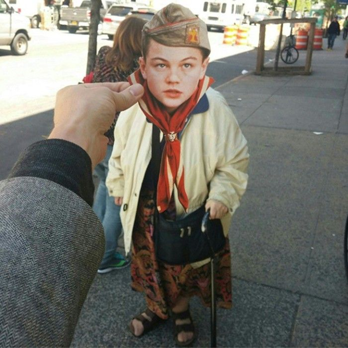 Amazing Instagram account @MyDayWithLeo – placing pictures of Leonardo DiCaprio around New York – for AnOther Happy Monday