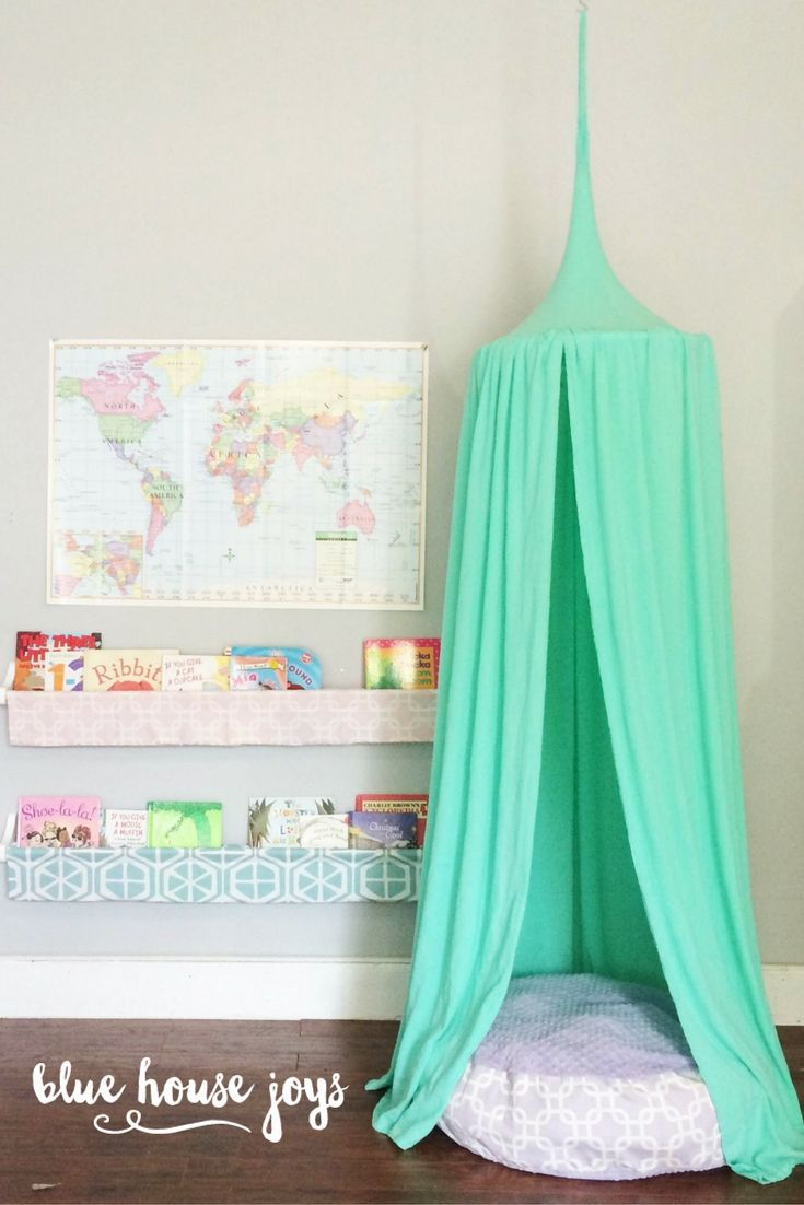 Kids playroom canopy - A Fun And Whimsical Mint Green Play Tent For Your Child To Climb Into And Dream