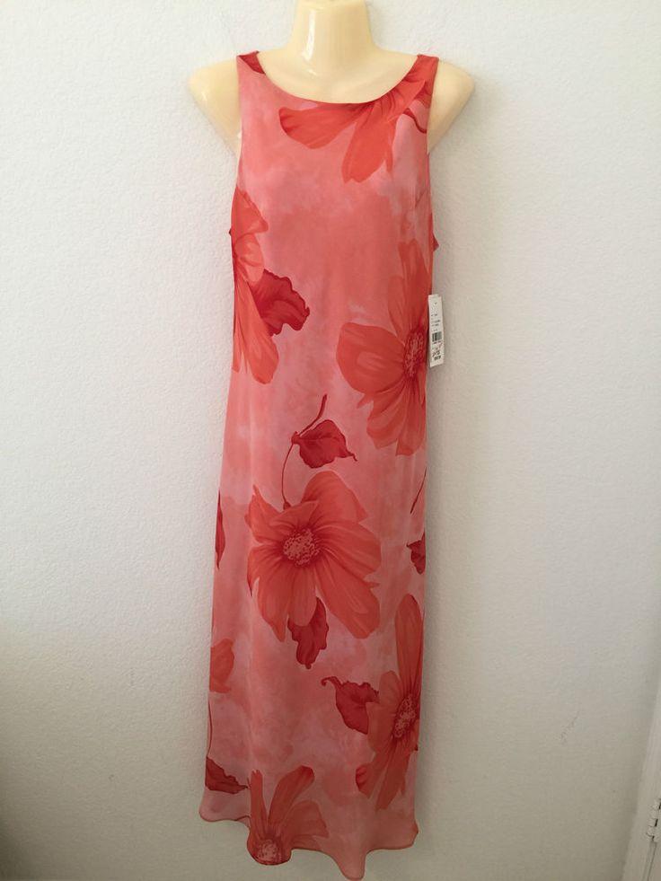 NEW AGB DRESS Buyer California NWT NEW Coral Sleeveless Long Maxi Summer Dress #AGBBUYERCALIFORNIA #Sundressmaxi