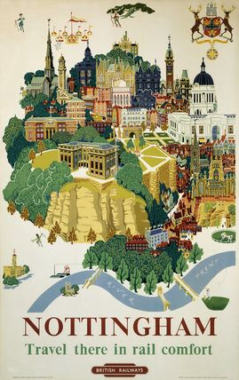 'Nottingham', British Rail poster, 1953.  by Kerry Lee