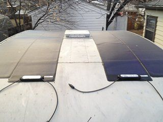 Cutting 18' thin film solar panels to fit on RV roof.  Must do.