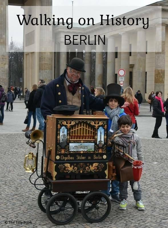 Brandeburg Gate with Children. World War II streets of Berlin