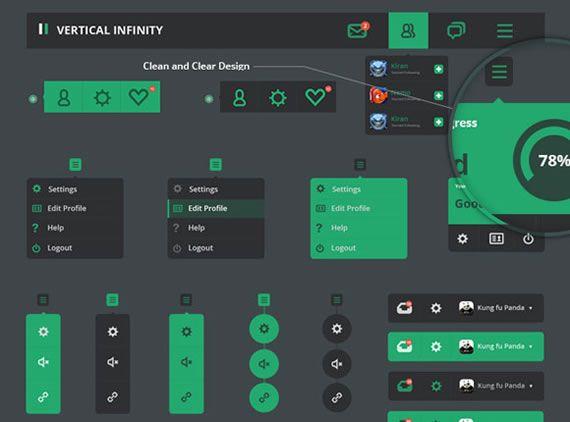 Elementos UI planos
