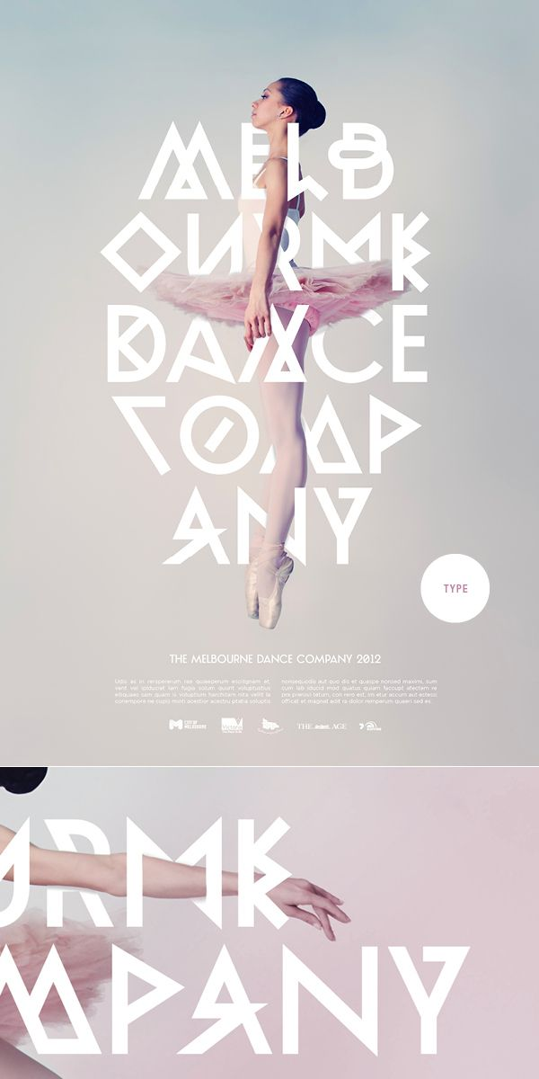 AN INTRICATE POSTERDanceco Posters, Ballet Poster Typography, Intricate Posters, Types Posters, Beautiful Types, Type Posters, Posters Ideas, Company Posters, Hot Types