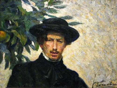 Boccioni, Umberto (1882-1916) - 1905 Self-Portrait (Metropolitan Museum of Art, New York City)  #TuscanyAgriturismoGiratola