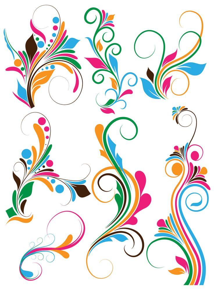 Art Design On Line : Flower swirl clip art free photoshop flourish swirls