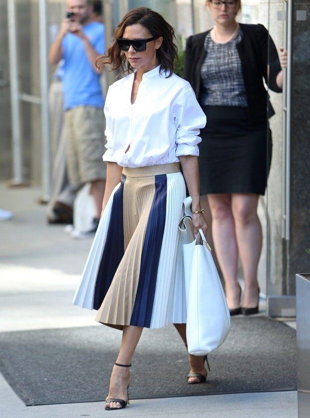Moda na retro: gwiazdy znów noszą plisowane spódnice - PUDELEK