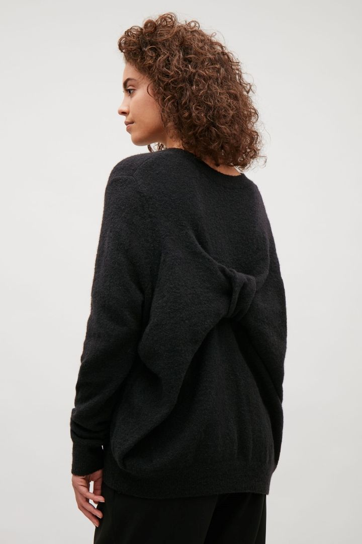 COS image 3 of Bow back jumper in Black