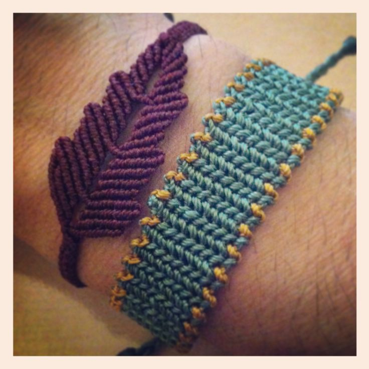 My...armcandy micromacrame leaf and cuff.