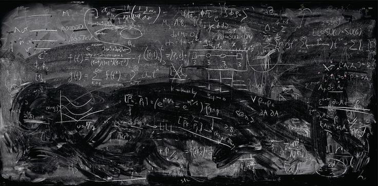Berkeley Quantum Physics Blackboard.