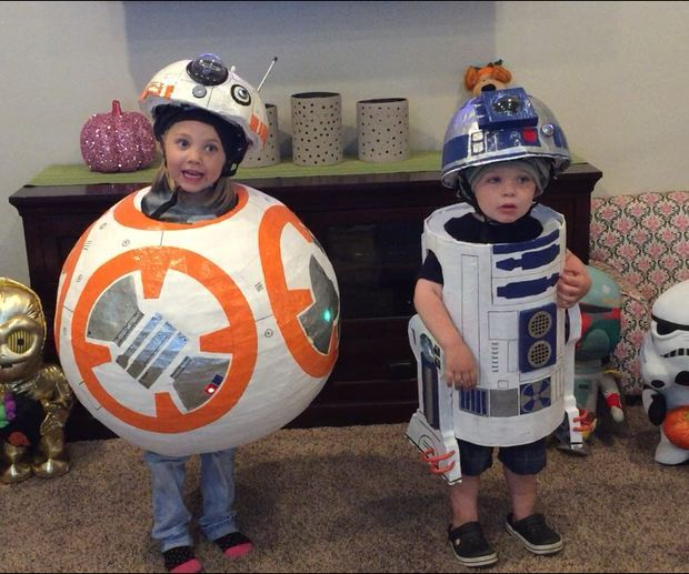 BB-8 and R2-D2 - Star Wars Toddler Halloween Costumes