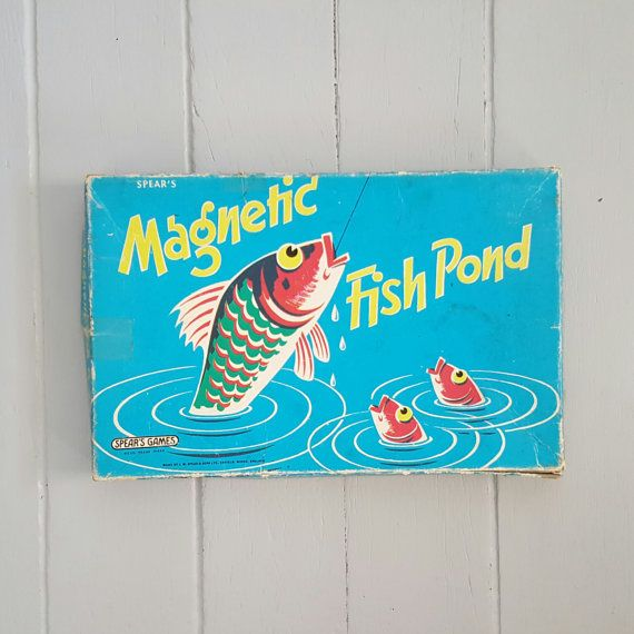 Magnetic Fish Pond Vintage Game by SheAdoresVintage on Etsy