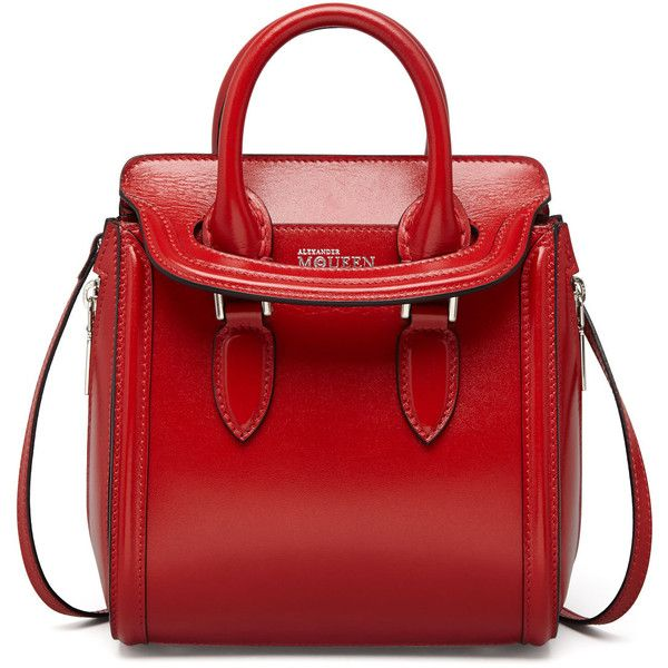 Alexander McQueen Red Mini Satchel Bag,