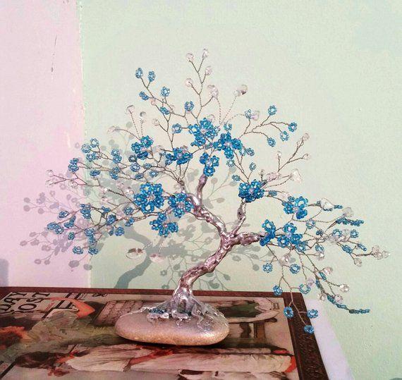 Gemstone Tree Bonsai Tree Gift Gemstone Bonsai Crystal Etsy Tree Gift Crystal Tree Wire Tree