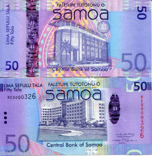 SAMOA 50 Tala Banknote