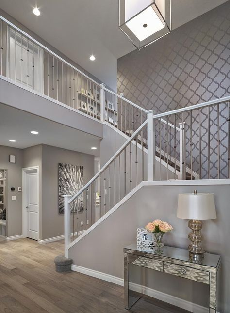 Add focal points and pops of color with decor, to streamline the overall design of the room. 58+ New ideas for wallpaper accent wall entryway foyers