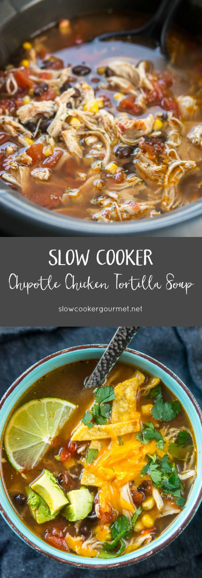 The most delicious version of chicken tortilla soup yet! And so simple in the slow cooker! Use quality ingredients and create a dinner you can be proud to serve your family!