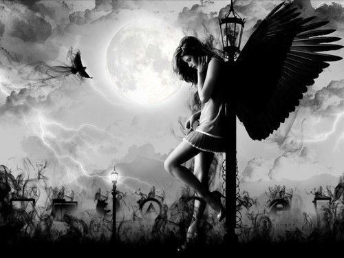 Fantasy Bilder Dark Angel –Jäger der Finsternis <3 HD Hintergrund and background Fotos