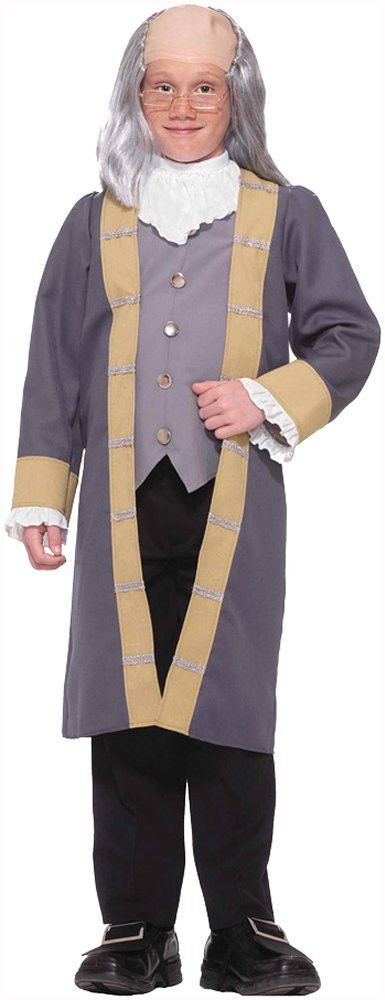 Costumes! Benjamin Franklin WannaBe Colonial Costume Set Child Large 12-14 #FM