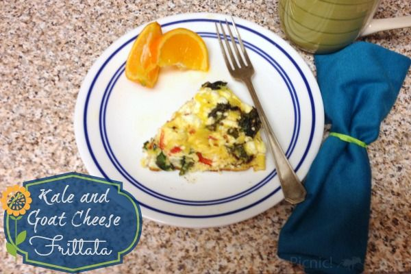 Kale and Goat Cheese Frittata
