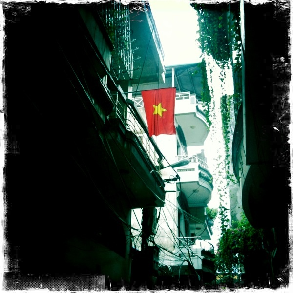HaiPhong Vietnam (building in light is where I lived)